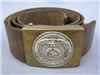 Original German WWII Sturmabteilung (SA) Brown Leather Belt And Buckle