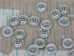 Original German WWII Painted Metal Dish Shirt Buttons (Set of 10)
