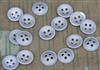 Original German WWII Zinc Metal Dish Shirt Buttons (Set of 10)