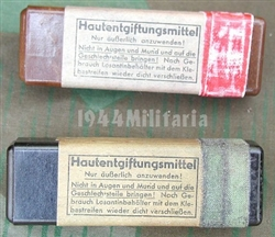 Original German WWII Gas Attack Salve (Hautentgiftungmittel) With Reproduction Label