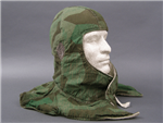 Original German WWII Splinter A Camouflaged/Reversible To White Winter Head Toque (Kopfhaube)