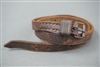 Original German WWII Long Vehicle Brown Leather Strap  cm
