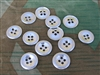 Original German WWII Metal Trouser & SS Smock Buttons (Set of 12)