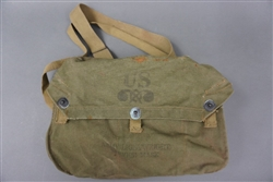 Original US WWII Gasmask Bag With Straps Dated 45