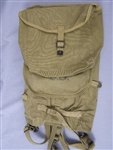 Original US WWII M-1928 Haversack Field Pack Dated 1941 With British Made Mess Kit Pouch