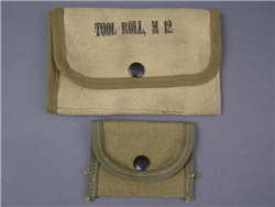 Original US WWII M12 Tool Roll Pouch With Small Pouch