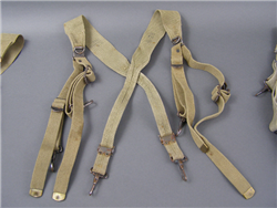 US WWII M-1936 Web Equipment Suspenders