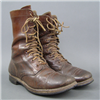 US Korean War Army M1948 Russet Leather Combat Boots