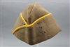 Original US WWII Original US WWII EM/NCO Overseas Cap Golden Yellow Piped For Cavalry