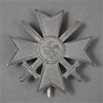 Original German WWII War Merit Cross 1st Class With Swords Marked 3 By Wilhelm Deumer
