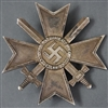 Original German WWII Early War Merit Cross With Swords First Class Marked 43 By Julius Bauer Sohne