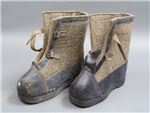 Original German WWII Felt Sentry Winter Boots Dated 1943