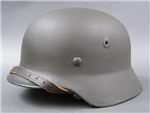 Post War German M40 Helmet Refurbished To Wartime Standards