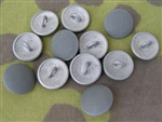 Reproduction Waffen SS Hollow Backed Pebbled Grained Uniform Buttons (Set Of 12)