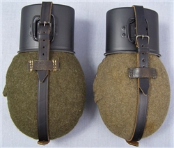 Reproduction/Original/Post War Refurbished M31 Feldflasche (Canteen) With Aluminum Cup
