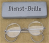 Reproduction German WWII Dienst-Brille (Service Glass) In Case