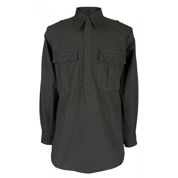 Reproduction German WWII Gray Summer Shirt 5b00984f38