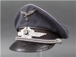 Reproduction German WWII Luftwaffe Officer's Visor Cap