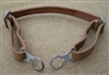 Reproduction German WWI M16 Brown Leather Chinstrap Made in Europe!