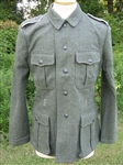 Reproduction German WWII Fieldgray M40 Feldbluse