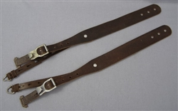 Reproduction German WWII Tornister Shoulder Straps With Original Hardware