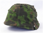 Waffen SS Blurred Edge Helmet Cover Type II With Foliage Loops