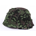 Waffen SS Oakleaf B Helmet Cover- Type II with foliage loops.