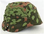 Waffen SS Oakleaf B Helmet Cover Variant- Type II with foliage loops.