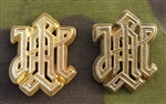 "Waffen SS LAH ""Leibstandarte Adolf Hitler"" Gold Officers Metal Cyphers"