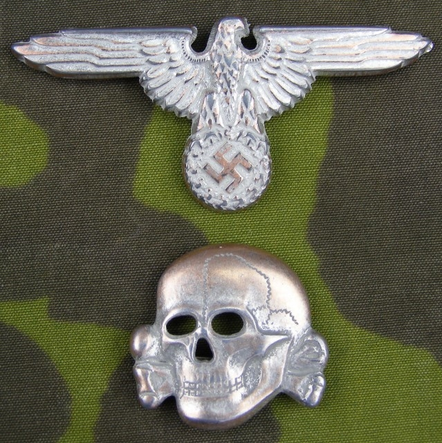 8cac29a4c4f Reproduction Waffen SS High Quality Metal Cap Skull And Eagle