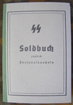 Reproduction Waffen SS Soldbuch