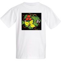 "Kids T-shirt ""Khokhloma"" (strawberry) .100% cotton"