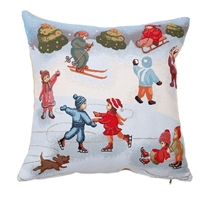 "Tapestry cushion cover ""Winter fun"", Size 50Ñ…50 cm"