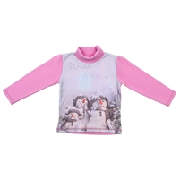 "Girl's jumper ""Snowmen"", 100% cotton"