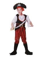 "Carnival costume ""Pirate Boy"" . 4 pcs(shirt, trousers with boots, hat and belt ) . H 120 cm -130 cm"