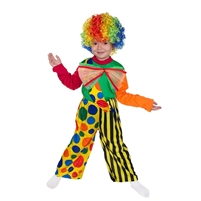 "Carnival costume ""Clown"" . 3 pcs(shirt, trousers and wig) . H 130-140 cm"
