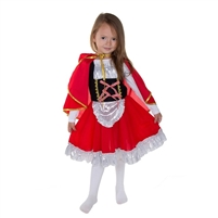 "Carnival costume ""Little red Riding Hood"" . 2 pcs(dress and cloak with hood) . H 120 cm -130 cm"