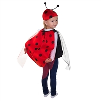 "Carnival costume ""Lady bird"" . 2 pcs(dress and hat) . H 110 cm -120 cm"