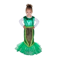 "Carnival costume ""Little Mermaid"" . (Dress long) . H 120 cm -130 cm"