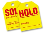 Sold / Hold Rearview Hang Tags