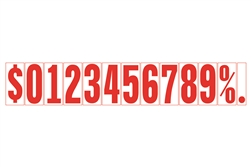 Windshield Adhesive Numbers - 5 1/2 inch