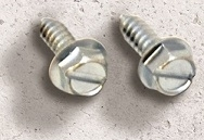 License Plate Screws & Bolts - Self-Tapping Hex Slot Head