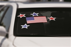 Large Windshield Stick-On - U.S. Flag