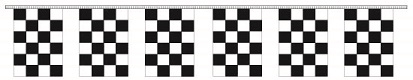 Poly Checkered - Rectangle Pennants