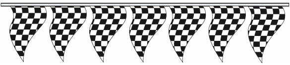 Poly Checkered - Triangle Pennants