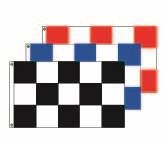 Checkered Race Style Flags - 3' x 5' Horizontal Flag