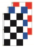 Checkered Race Style Flags - 3' x 5' Vertical Flag