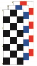 Checkered Race Style Flags - 3' x 8' Flag