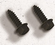 License Plate Screws & Bolts - Black Hex Head Screws