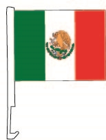 Clip-On Car Window Flags - Mexico Flag